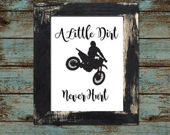 """Baby or Toddler Motocross Dirtbike Nursery - Playroom 8""""x10"""" - Digital Printable Download"""