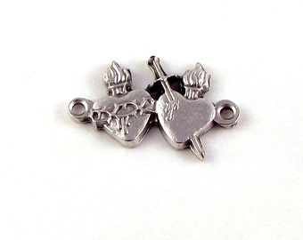 Sacred Heart of Jesus Immaculate Heart of Virgin Mary Our Father Pater Bead | Italian Rosary Parts