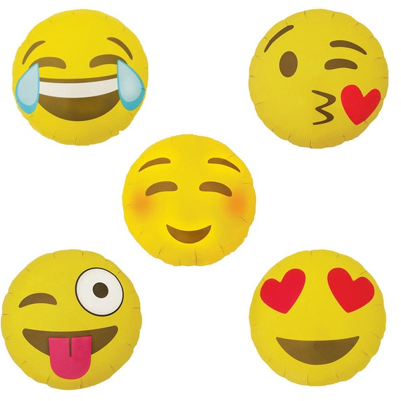 Emoji Party Balloons Emoji Birthday Party Emoji Party