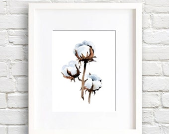 Cotton - Art Print - Wall Decor - Watercolor Painting