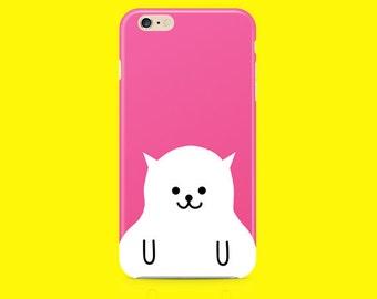 Pink cat iPhone case, iPhone 6 case, iPhone 6s case, iPhone 5 case, iPhone 5c case, iPhone 6 plus case, iPhone 6s plus case, iPhone 5s case