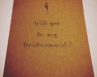 Will you be my Bridesmaid? Wedding Cards