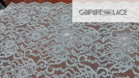 Gray Lace fabric, Wedding lace, Bridal lace, Spanish style, Alencon Lace Fabric