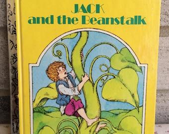 1973 Jack and the Beanstalk, Jack and the Beanstalk A little Golden Book,vintage Golden Book