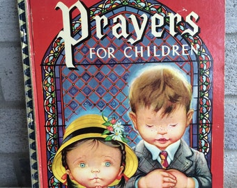 Vintage 1952 A Big Golden Book, Prayers for Children