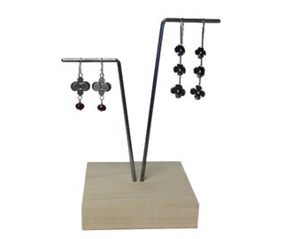 V Earring display, earring stand, craft show display, store display E103