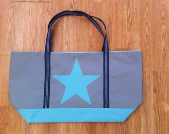 Beach bag/turquoise canvas bag/turquoise extra large tote bag/Beach bag /Holdall/ Holiday bag/ Extra large fabric bag/ canvas bag/star bag