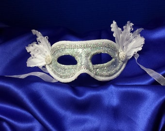 Lace and silver mask