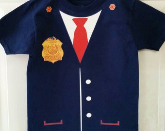 Odd Squad T-Shirt with Badge and Tie