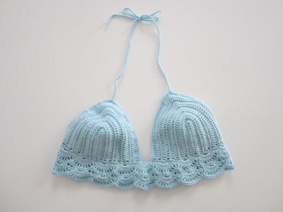 Crop top crochet, top d'été, maillot bain crochet, haut crochet, top crochet, top fille, top festival,