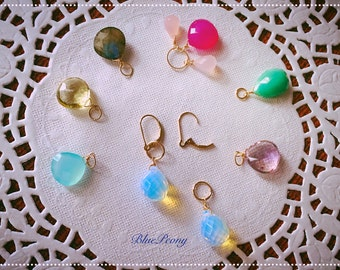 Interchangeable gold filled earrings