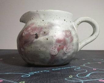 Smoky Red Hand Made Ceramic Pitcher