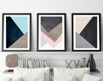 Set of 3 Prints, Print Set, Minimalist Poster, Minimalist, Scandinavian Print, Scandinavian Art, Geometric, Geometric Print, Downloadable