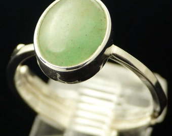 Deep Sea Green Aventurine in Sterling Silver Ring