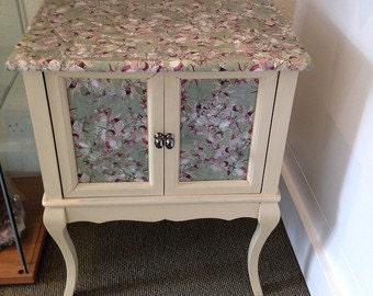 UPCYCLED  2 DOOR CABINET decoupaged  - Sale Price