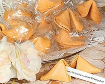 50 Wedding Themed Fortune Cookies Individually wrapped (Vegan)