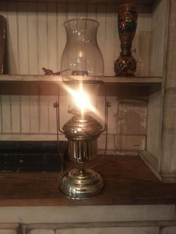 Wall Mounted Hurricane Lamps : Vintage Oil Lamp Brass Oil Lamp Wall Mounted Oil Lamp