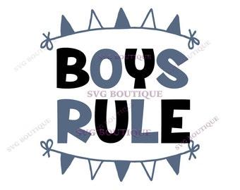 Boys Rule SVG, Baby Boy SVG, Little Boy, Vector, Cutting File, PNG, Cricut, Silhouette, Cut Files, Clip Art, Quote Overlay, Little Boy svg
