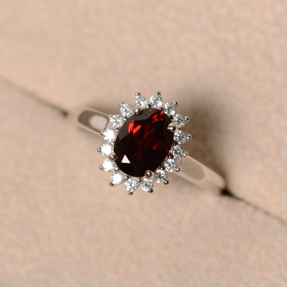 Garnet Wedding Rings 001 - Garnet Wedding Rings