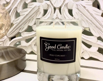 Holy Cupcakes! - Double Wick Soy Wax Candle
