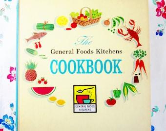 Vintage General Foods Kitchens Cookbook, Picture Cookbook, 1950's Cookbook, Color Cookbook, Retro Recipes