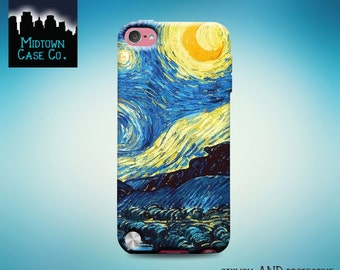 Starry Night Painting Vincent Van Gogh iPod Touch 5th Gen Generation, Starry Night Painting Vincent Van Gogh iPod Touch 6th Gen Generation