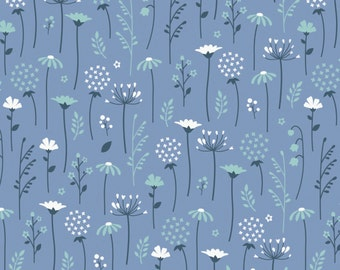 35% off - 2 yards Camelot Design Studio Collection Ethereal - Periwinkle Flowers 2143002-3