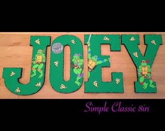 Handpainted custom wooden letters