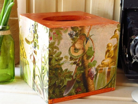 Tissue box cover retro tissue box housewarming gift decorated for Classic housewarming gifts