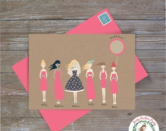 """Personalized """"Will you be my bridesmaid"""" proposal scratch-off cards"""