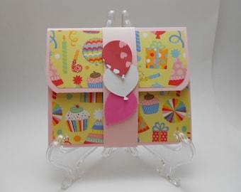 Girl's Birthday Gift Card Holder