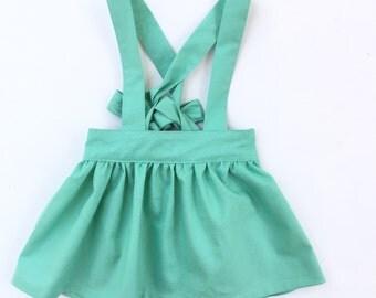 Mint Suspender Skirt