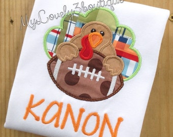Boys Thanksgiving shirt, Boys turkey shirt, Boys football shirt, Boys fall shirt, Football turkey shirt, Boys Thanksgiving football