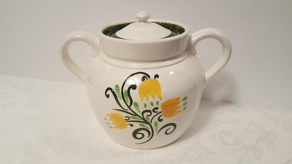 Stangl Yellow Tulip Bean Pot / Cookie Jar #3637