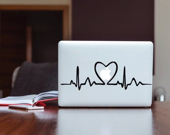 Heart Beat With Heart By Love To Your Each Day Partner  High Quality Matted Vinly Decal Sticker