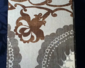 "Fabric eReader case, 9"" device, grey, damask"