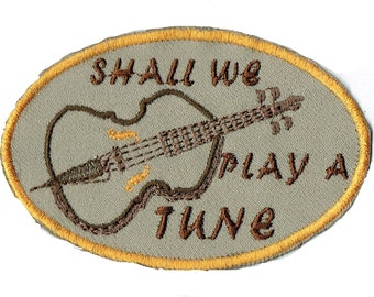 Cello Shall We Play A Tune? Iron On Patch