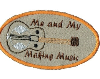 Dobro Me and My Making Music Iron On Patch
