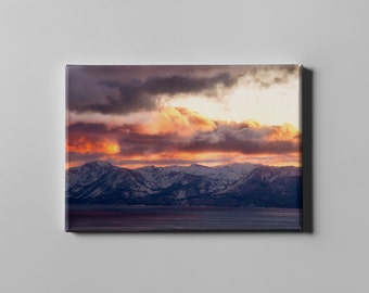 Mt. Rose Lake Tahoe, Canvas Print, Landscape Photography, Modern Large Art, Nature Photography, Fine Art Canvas Print, Oversized Art