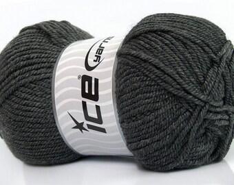 FREE SHIP Ice Yarn Lund Wool Dark Gray Worsted Aran