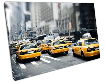 New York Yellow TAXIS Canvas WALL ART C2058