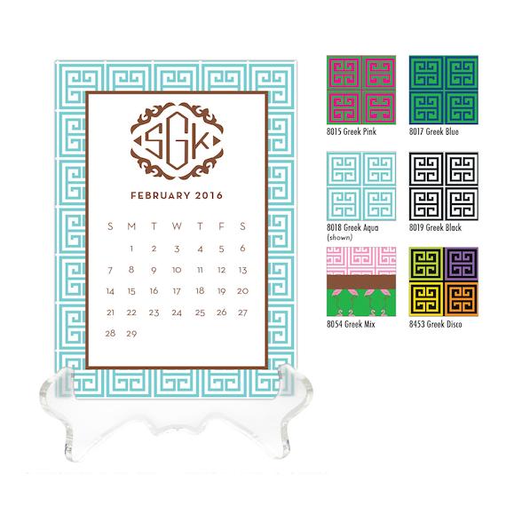 how to make desk calendar stand