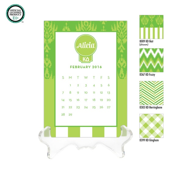 kappa delta personalized desk calendar 2018 2019 calendar