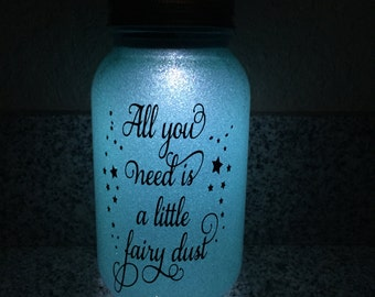 Solar mason jar personalized lights