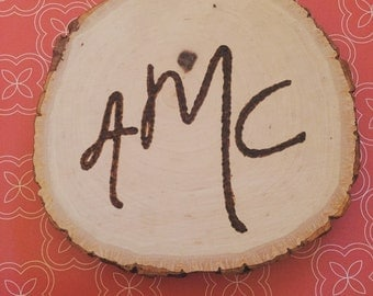 Personalized Tree Ring Coaster/Ornament