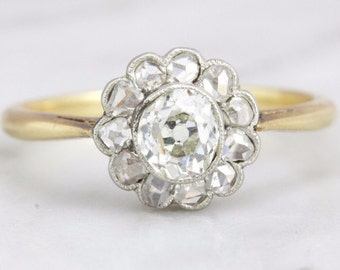 Nicole- Victorian Cluster Diamond Engagement Ring
