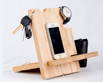 Related to Docking Station,cable organizer,charging station,craft storage,charging station organizer,wood docking station,boyfriend gift