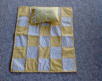 18 Inch Doll Quilt with matching pillow