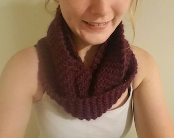 Tightly knitted, lightweight fall infinity scarf