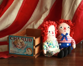 Raggedy Anne and Andy Dolls - 7 in